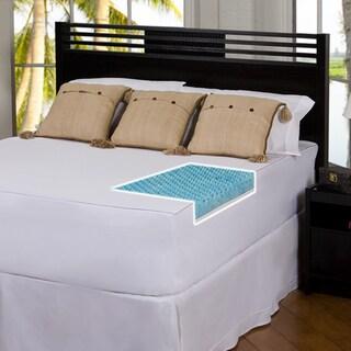 Slumber Solutions Gel Highloft 4-inch Memory Foam Mattress Topper with Cover
