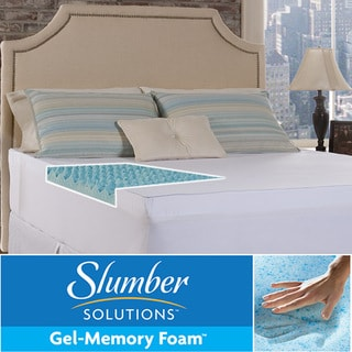 Slumber Solutions Gel Big Bump 4-inch Memory Foam Mattress Topper with Cover