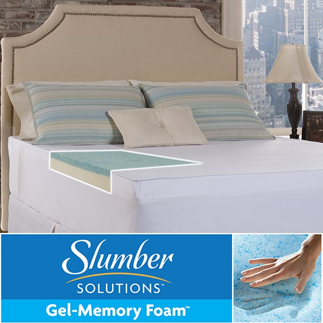 Slumber Solutions Gel Select 4-inch Twin/ Full-size Memory Foam Mattress Topper with Cover at Sears.com