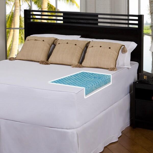 Slumber Solutions Gel Highloft 2-inch Memory Foam Mattress Topper with Cover