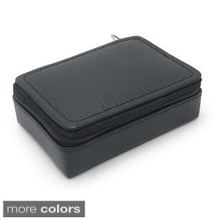 Morelle and Co. 'Vicky' Leather Zippered Jewelry Case