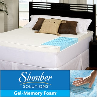 Slumber Solutions Gel Highloft 4-inch Memory Foam Mattress Topper with Waterproof Cover