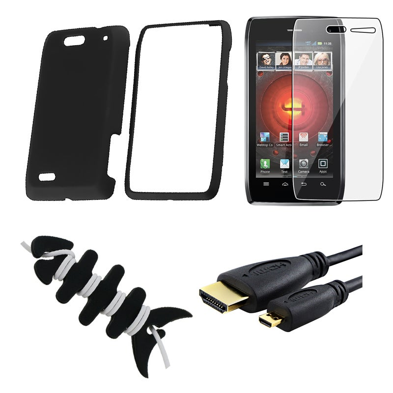 INSTEN Phone Case Cover/ Screen Protector/ Wrap/ HDMI Cable for Motorola Droid 4 XT894