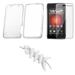 Clear Case/ Screen Protector/ Headset Wrap for Motorola Droid 4 XT894
