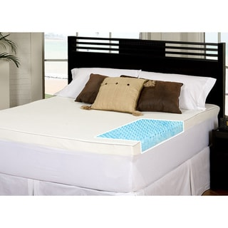 Slumber Solutions Gel Highloft 4-inch Twin/ Full-size Memory Foam Mattress Topper with Waterproof Cover