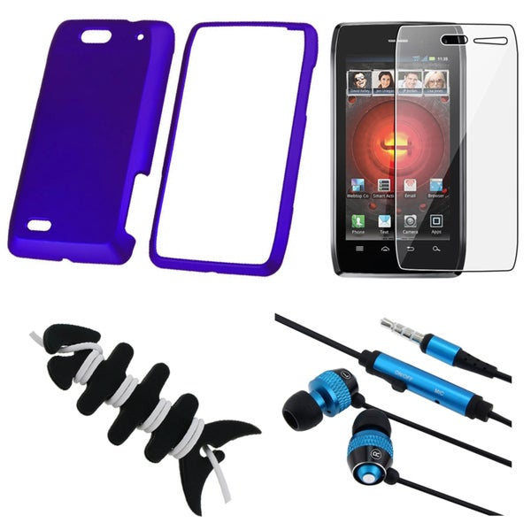INSTEN Blue Phone Case Cover/ Protector/ Headset/ Wrap for Motorola Droid 4 XT894
