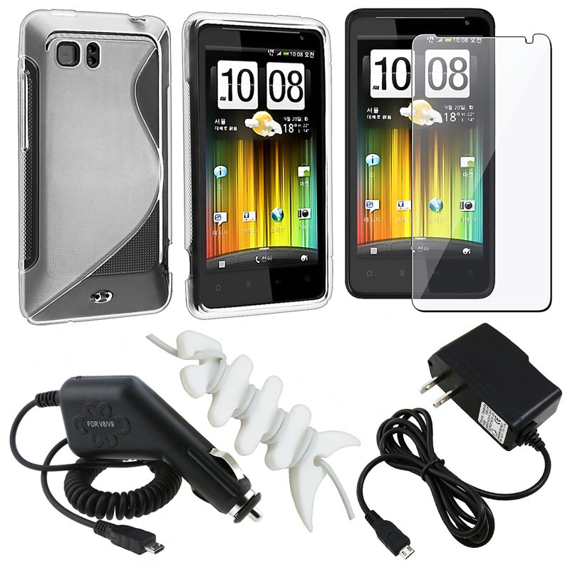 Case/ Screen Protector/ Wrap/ Travel/ Car Charger for HTC Holiday