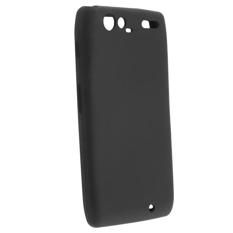 Black Silicone Skin Case for Motorola Droid Razr Maxx XT916