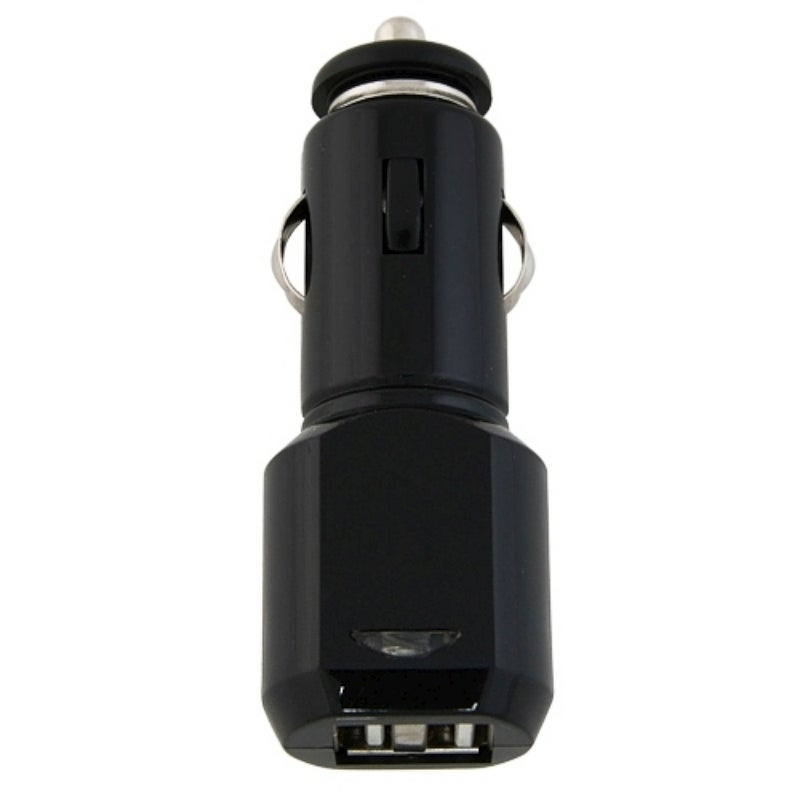 INSTEN Black 2-Port USB Car Charger with LED Light