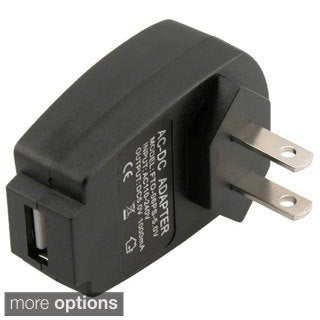 INSTEN Black Universal USB Travel Charger Adapter