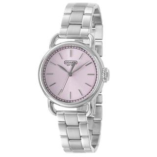 Coach Women's Hamptons Pink Dial Stainless Steel Watch