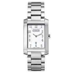 Coach Women's Movado Collection Silver Dial Stainless Steel Watch