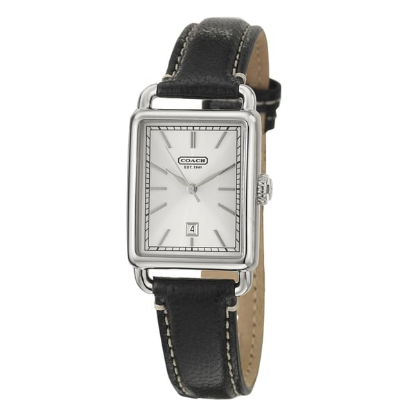 Coach Hamptons Men's Silver Dial Leather Watch