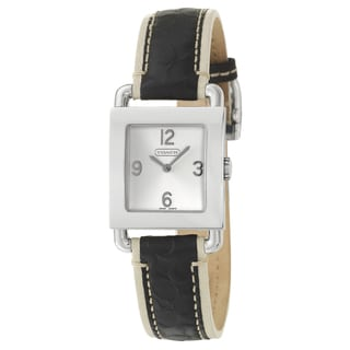 Coach Legacy Women's Harness Silver Dial Leather Watch