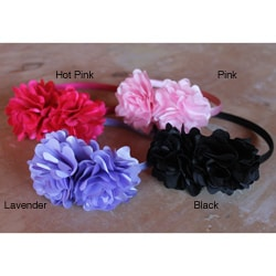 CarolineAlexander Girls' Double Flower Headband