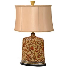 Resin 3-way Table Lamp with Honey Shade
