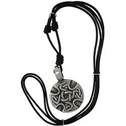 CGC Pewter Unisex Celtic Medallion Adjustable Cord Necklace