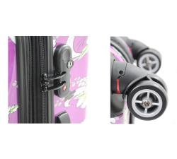 Purple Tropical Flower 3-piece Lightweight Expandable Hardside Spinner Luggage Set