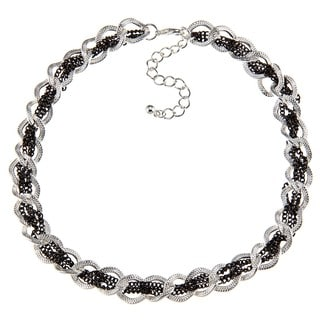 Alexa Starr Two-tone Woven Chain Necklace