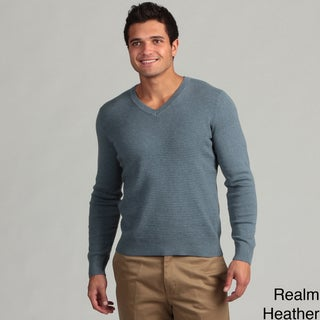Calvin Klein Men's Striped V-neck Sweater FINAL SALE