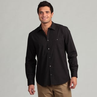 Calvin Klein Men's Black Woven Shirt