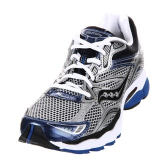 Saucony Men's 'ProGrid Omni 10' Silver/Royal Running Shoes