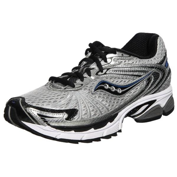 Saucony Men's 'Progrid Ride 4' Silver/ Black/ Royal Running Shoes
