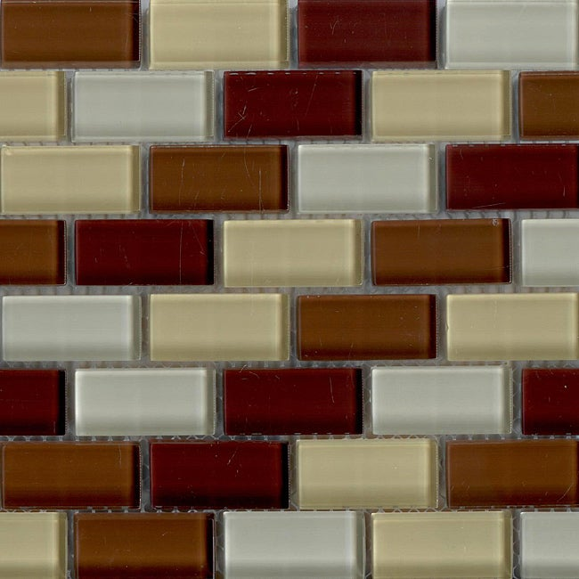 Lush 10 5x10 5 In Stockholm Mosaic 1x2 In Glass Tiles
