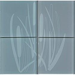 Lush Henry Road 12x12-inch 'Bullrush' 6-inch Decorative Glass Tile