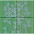 Lush Henry Road 12-Inch x 12-Inch 'Field' 6-Inch Interior/Exterior Glass Tiles (Pack of 8)