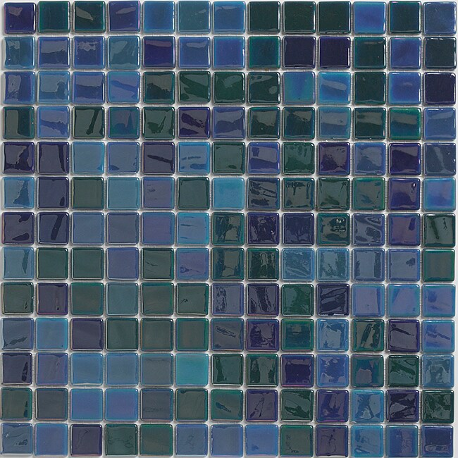 Viridian 'Pearl Ocean' 1-inch Recycled Glass Tiles (pack 15)