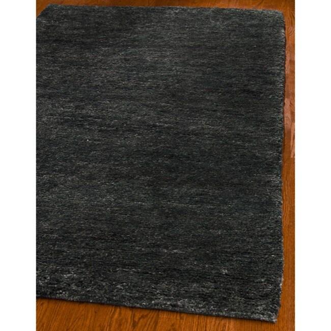 Safavieh Hand-knotted Vegetable Dye Solo Black Hemp Rug (5' x 8')