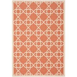 Poolside Terracotta/ Beige Indoor Outdoor Rug (9' x 12')