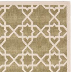 Safavieh Poolside Green/Beige Indoor/Outdoor Area Rug (8' x 11'2