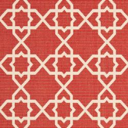 Safavieh Poolside Red/ Beige Indoor Outdoor Rug (9' x 12')