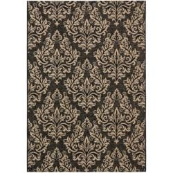 Poolside Black/ Cream Indoor Outdoor Rug (4' x 5'7)