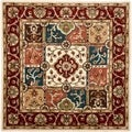 Handmade Heritage Panels Multi/ Red Wool Rug (8' Square)