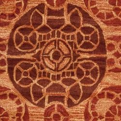 Handmade Treasures Cinnamon New Zealand Wool Rug (4' x 6')