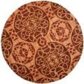 Safavieh Handmade Treasures Cinnamon New Zealand Wool Rug (7' Round)