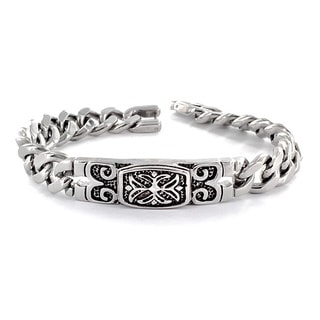 Stainless Steel Celtic Cross Embossed Bracelet