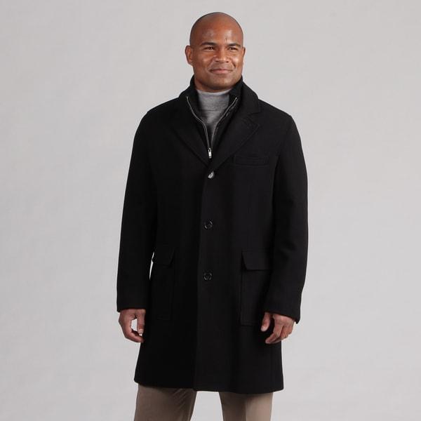 Cole Haan Men's Black Wool Blend Coat FINAL SALE