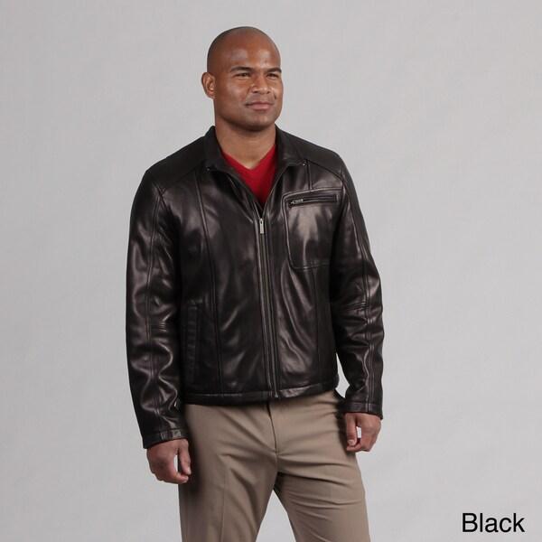 Cole Haan Men's Lamb Leather Moto Jacket