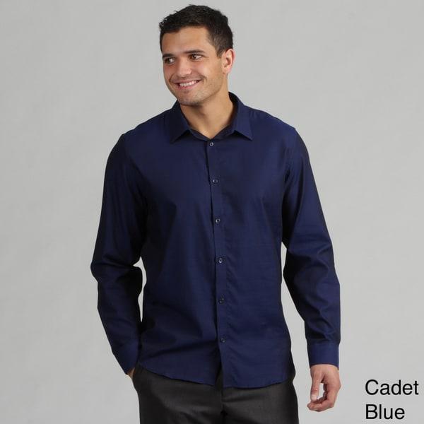 Calvin Klein Men's Mini-striped Woven Shirt FINAL SALE