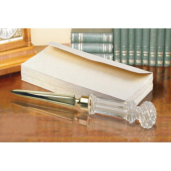 Fifth Avenue Crystal-handled Metal Letter Opener with Gift Box