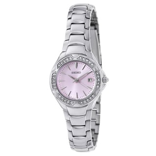 Seiko Women's Classic Watch with Pink Dial