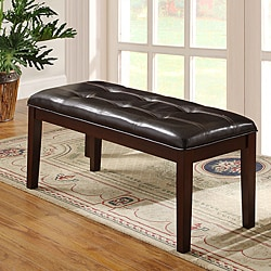 Colyton Rich Espresso 48-inch Casual Upholstered Bench