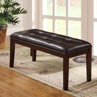 Tribecca Home Colyton Rich Espresso 48-inch Casual Upholstered Bench