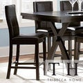 TRIBECCA HOME Dartford Espresso Contoured 24-inch Counter Stool (Set of 2)