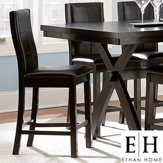 ETHAN HOME Dartford Espresso Contoured 24-inch Counter Stool (Set of 2)