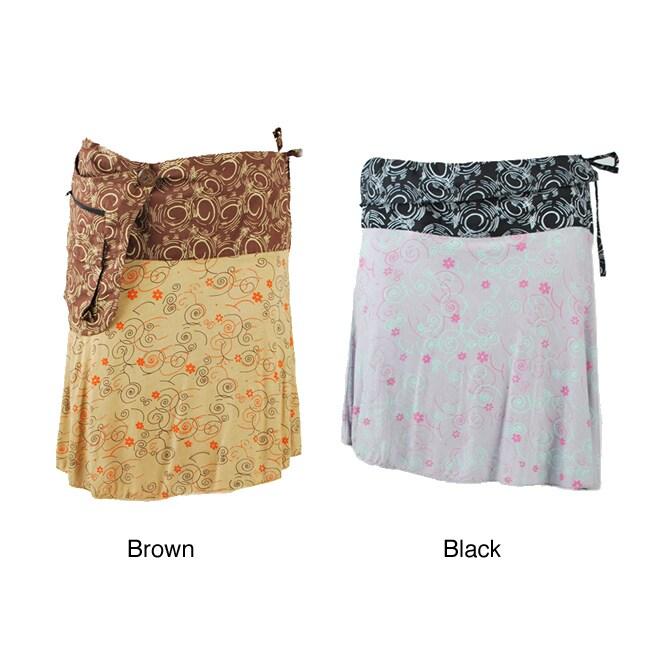 Handmade Viscose Detachable Pocket Skirt (Nepal)